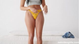 18 Year Old With A PERFECT hour glass figure has sex during audition