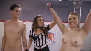 Nude Wrestling Stephie Staar fights and fucks loser at Evolved Fights