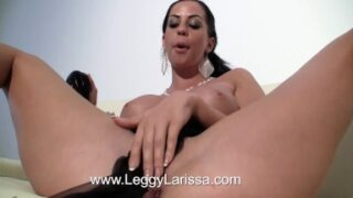 Self Toe sucking hungarian milf makes a sensual stocking striptease with real vintage nylons